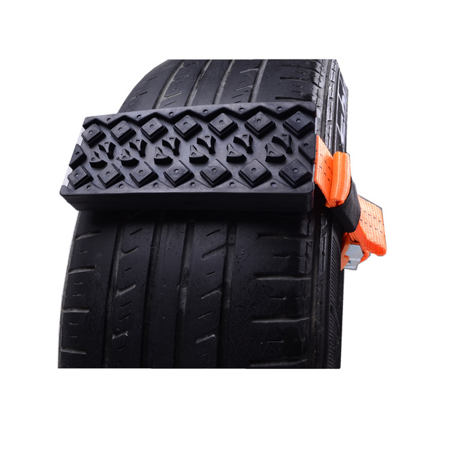2PCS Tire Chain Strap Snow Chain Anti-Skid Automobile Belt for Outdoor Emergency Car Universal Anti Skid Snow Chains Nylon