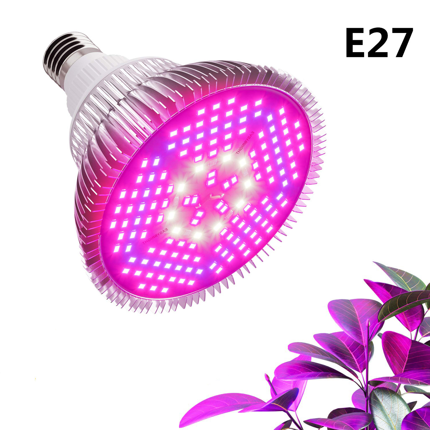 LED Phyto Lamp Full Spectrum 10W 30W 50W 80W 100W E27 Grow Lights Bulbs For Plants Flowers Seeds Garden Vegetables Greenhouse
