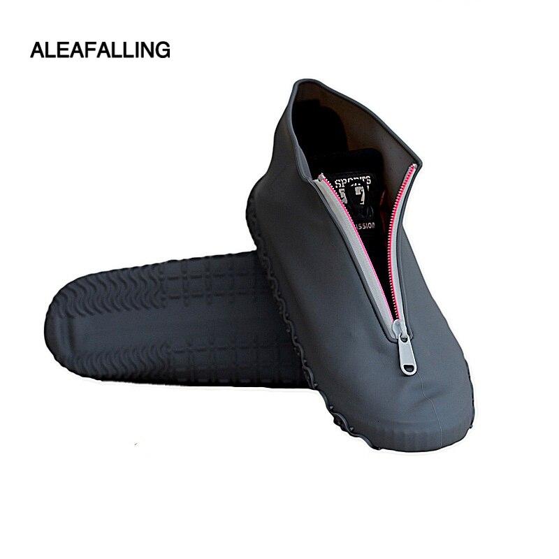 Silicone Rainshoe Sheath Rainproof Waterproof Zip Open Shoe Sheath Outdoor Wear-resistant And Skid-resistant Shoe Sheath