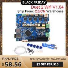 Geklont Duet 2 Wifi V 1,04 Control Board Duetwifi 32Bit Duet2 PanelDue Touchscreen 3D Drucker Teile CNC Ender 3 pro VS Duex5