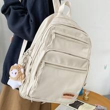 High Capacity Women Backpack Nylon Femal Travel School Bag College Lover Bookbag Men Black Bagpack Fashion Girls Student Mochila