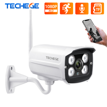 Techege Super 1080P Wireless IP Camera Outdoor CCTV Security Two Way Audio Bullet Wifi Support Onvif Russia Stock - discount item  55% OFF Video Surveillance