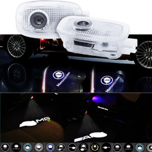 W221 LED Car Door Welcome Light Accessories Projector Luces Para Auto Interior Lights Logo Coche Carro Luz For Mercedes Benz AMG