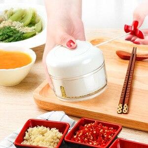 Mini Manual Garlic Chopper Ginger Grinder Food Cutter Vegetable Slicer Fruit Meat Processor Crusher Kitchen Gadgets
