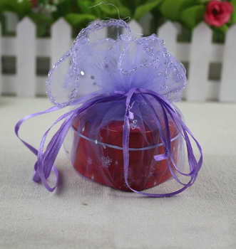 300pcs diameter 26cm  purple Round Sachet Organza Bag Drawstring jewelry packaging bags for Wedding/gift/food/candy/Christmas