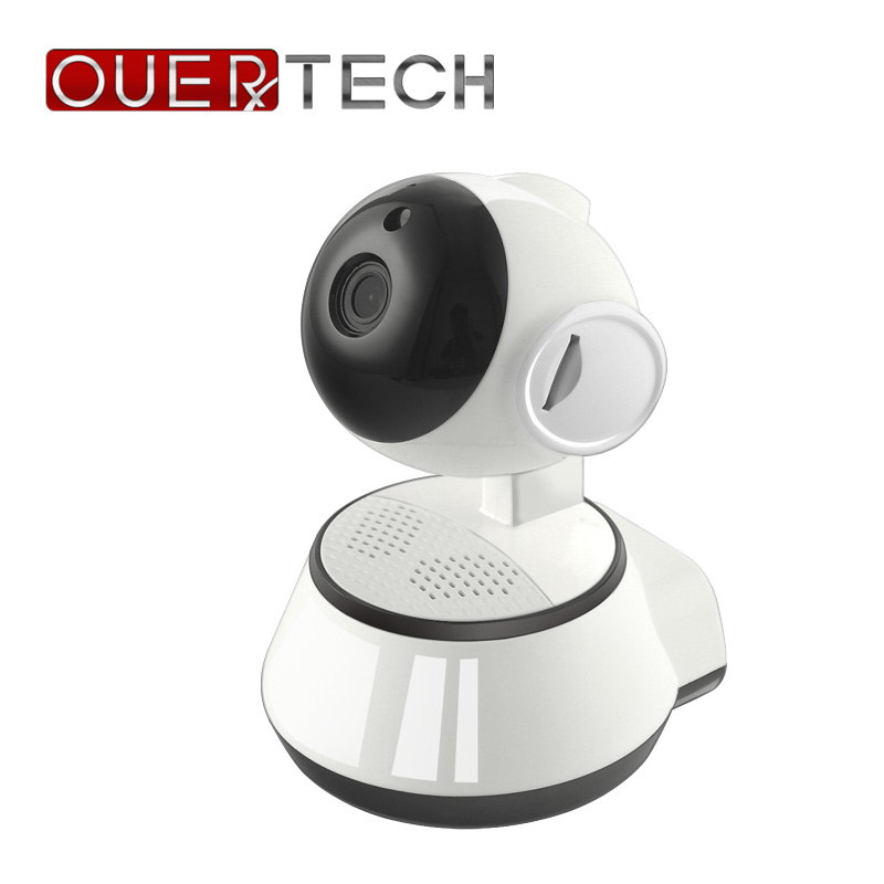 OUERTECH Wide Angle View Two way Audio Night Vision 720P WIFI Smart Wireless IP Camera Support Remote Access 64g baby monitor