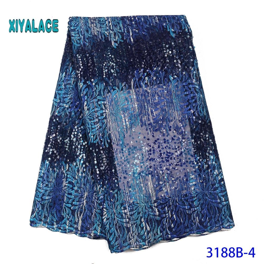 African Lace Fabric Switzerland Lace 2019 High Quality Lace Fabric Nigerian Lace Fabrics French Bridal Lace For Dress YA3188B-4