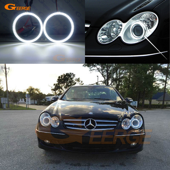 Excellent Ultra bright smd led Angel Eyes kit DRL For Mercedes Benz CLK CLASS W209 C209 A209 CLK500 2007-2010 Xenon headlight for mercedes benz clk class w209 a209 c209 2002 2009 hd ccd car rear view reverse camera sets rca