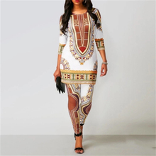 MD 2020 Women African Pants Suit Bazin Riche South Africa Women Clothes Ladies Tops Trouser Traditional Dashiki Print Shirt Robe