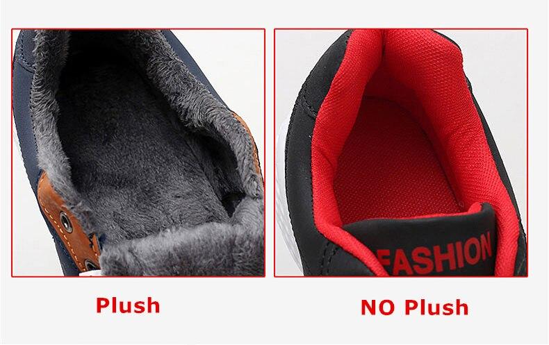Men's Winter Sneakers PU Leather 10