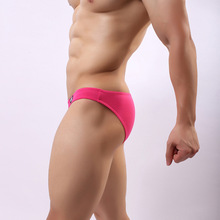 Sexy Men #8217 s solid color underwear low waist U convex bag cotton convex sexy breifs 8 color pants cheap Briefs