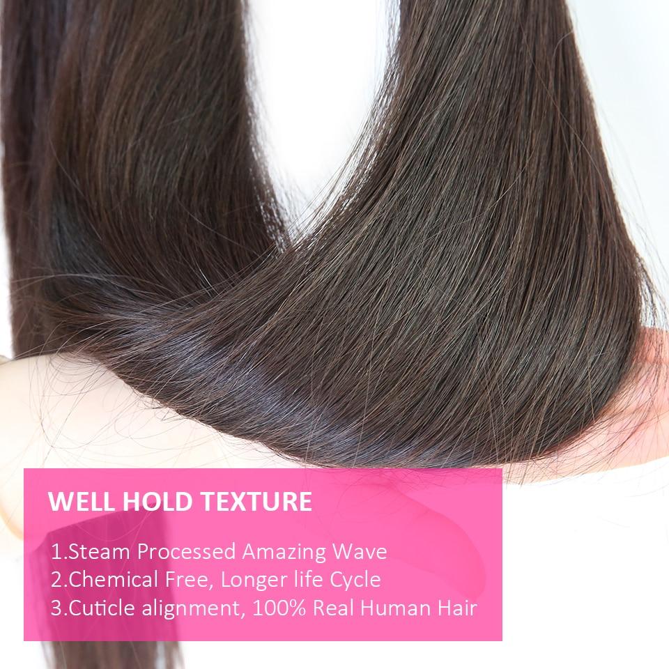 Hf31be5a5943645e0a262e3a1d7e49cb35 Cexxy Straight Bundles With Closure Brazilian Hair Weave Bundles With Closure Human Hair Extension Long Hair 8-34 36 38 40Inch