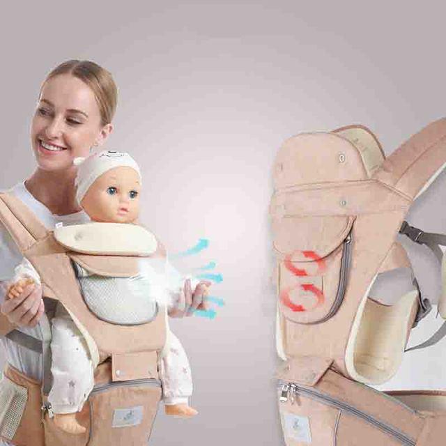 Gabesy, transportador de bebé ergonómico, mochila Hipseat para recién nacidos y previene piernas tipo o, canguro para bebés