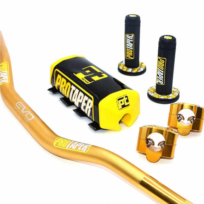"""핸들 PRO 테이퍼 팩 바 1 1/8 """"핸들 바 패드 그립 Pit Pro Racing 먼지 자전거 오토바이 CNC 28.5mm 어댑터"""