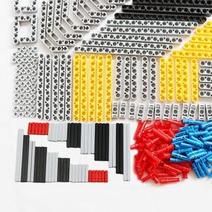 Image 3 - 540PCS 대량 빌딩 블록 벽돌 MOC 장난감 기술 Liftarm 빔 액슬 핀 커넥터 교체 부품 레고 기술과 호환 가능