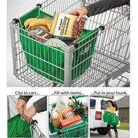 매직 피쉬 1 pc 쇼핑 가방 접이식 친환경 재사용 가능한 대형 트롤리 슈퍼마켓 대용량 토트 백