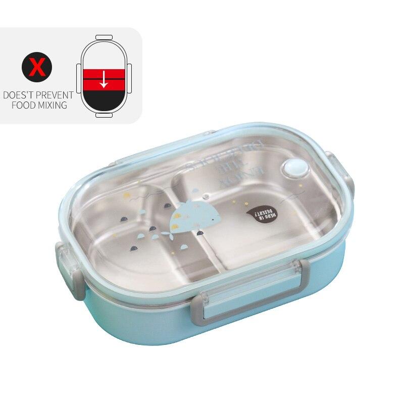 WORTHBUY японский Ланч-бокс для детей школы 304 из нержавеющей стали бенто Ланч-бокс герметичный контейнер для еды детская коробка для еды - Цвет: C Blue