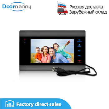 цена Doornanny Video Intercom Indoor Monitor 4 Wires Connectivity HD Monitor SD Card Support Build-In Power Supply Monitor онлайн в 2017 году