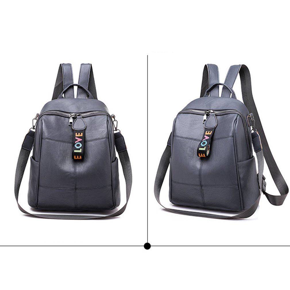 Hf31c246651554c87adc594a06f363272F - Fashion Soft Leather Multipurpose Backpack Shoulder Handbag Women Backpack Color Matching Large Capacity Travel Shoulder Bag