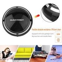 Мини Интеллектуальный Электрический беспроводной автоматический многонаправленный круглый умный подметальный робот-пылесос для дома