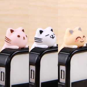 Cat 3.5MM Mobile Phone Earphone Jack Dust Plug Phone Accessories for IPhone 6 Android Smart Phone Cute Anti Dust Plug