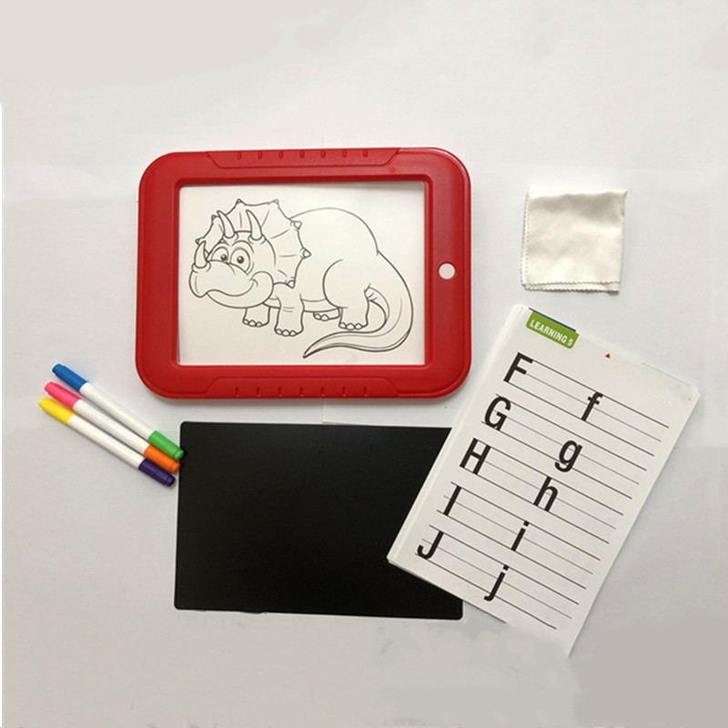 3D Magic Tablet For Drawing Board Pad 8 Light Mode Scratch Painting Pad LED Writing Board Creative Art Kids Crafts Toys
