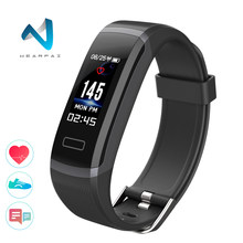 Wearpai kolorowy ekran inteligentna bransoletka GT101 24 godzin pulsometr centrum tracker Bluetooth Sport wodoodporny smart watch(China)