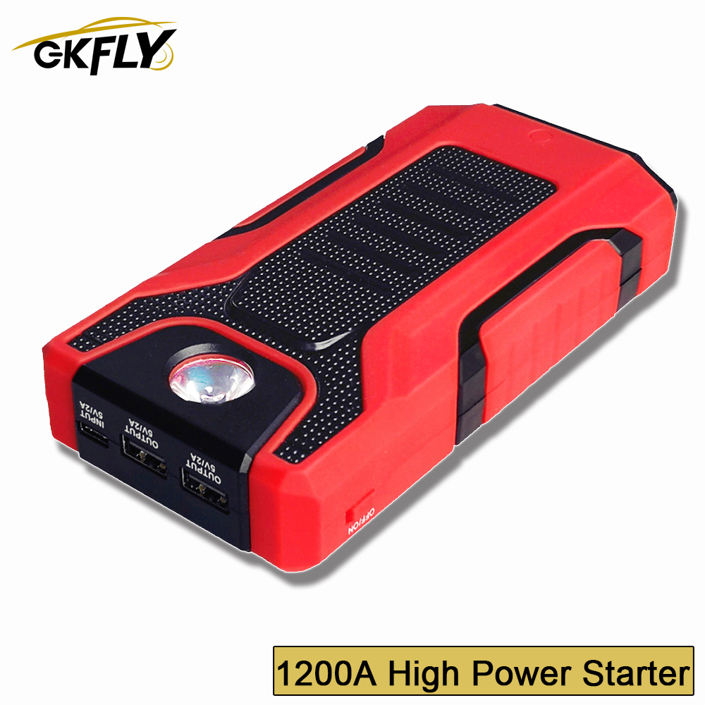 GKFLY 1200A Super Power <font><b>Car</b></font> Jump Starter Power Bank Portable <font><b>Car</b></font> <font><b>Battery</b></font> Booster <font><b>Charger</b></font> 12V Starting Device Starter <font><b>Cables</b></font> image