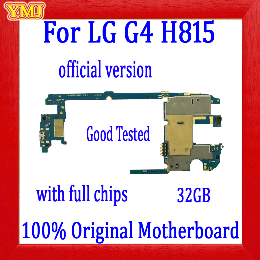 100% Original <font><b>Motherboard</b></font> for <font><b>LG</b></font> G4 <font><b>H815</b></font> with Android System,with Full Chips for <font><b>LG</b></font> G4 <font><b>H815</b></font> Mainboard,Logic board Good Tested image