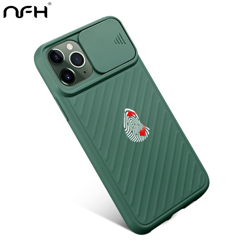 Fahsion Slide Camera Protects Phone Case For 11 Pro X XS XR XS Max 6S 7 8 Plus Shockproof Soft Silicone Cover On 11 Pro Max Case