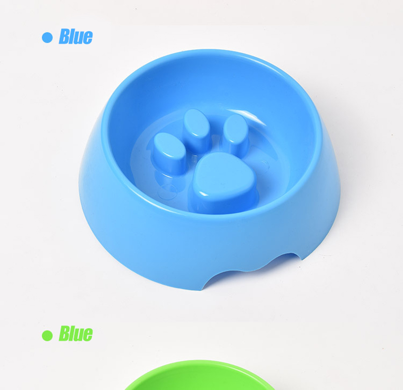 Cute Paw Dog Bowl Plastic Anti Choke Slow Feeder Pet Food Bowls For Cat Water Drinking Products For Dogs Silicone Container 11