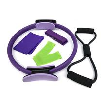 Exercise Fitness Body Massage Loop Pilates Ring Magic Circle Dual Grip Sporting Goods Yoga RingLose Weight Equipment multicolor yoga circle fiberglass fiberglass crescent handle magic circle fitness body fitness equipment health massage
