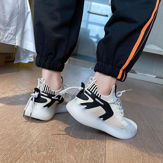 Zapatillas de deporte de mujer vulcanizados zapatos de malla transpirable moda Zapatos casuales de las mujeres zapatillas de deporte sólido de señoras zapatos de nuevo 5