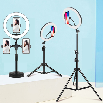 10 Inch Led Ring Light with Tripod Rim Ringlight Selfie Photo Round Ring Lamp Right Light for Smartphone Photography Shooting 1
