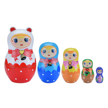 5 schichten Russische Puppen Matrjoschka-puppen Holz Handgemachte Kinder Gemalt Spielzeug für Kinder Geschenke Poupées Matriochka Neue