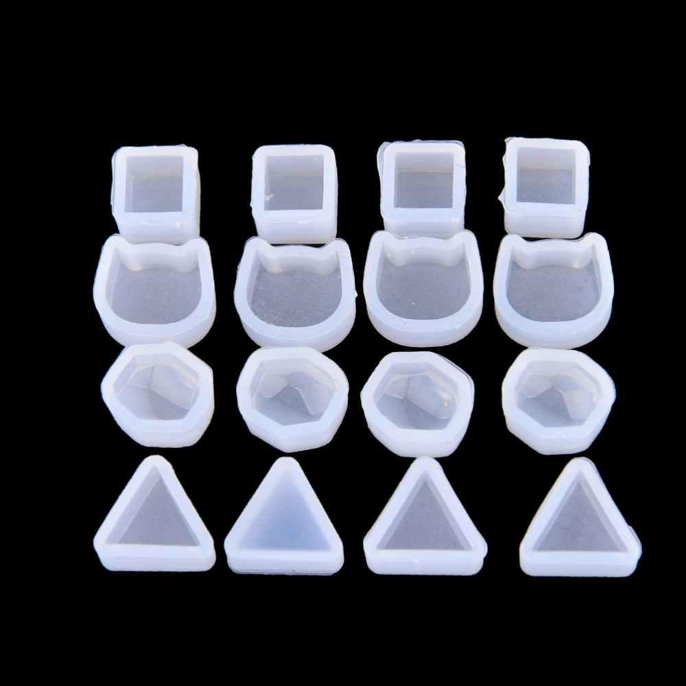 DIY עובש שרף ליהוק שרף תבניות עבור תכשיטי 2Pcs רב עיצוב נשים ברור סיליקון עובש להכנת תכשיטי עגילים חדש
