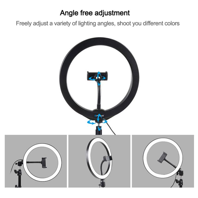cheapest 10inch Selfie Ring Light with Phone Holder 360-degree Rotatable Ball Head Stabilizer Dimmable USB Ring Light for Live broadcast