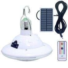 22 светодиодный светильник на солнечной батарее, портативный USB Перезаряжаемый светодиодный светильник для кемпинга, внутреннего сада, аварийный светильник, солнечные лампы с дистанционным управлением