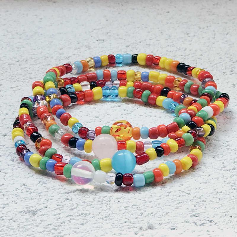 Mcllroy мужские браслеты из бисера женские Ручной Работы Бохо богемный Браслет из цветных бусин Кошка Камень пара браслет Femme Homme ювелирные изделия