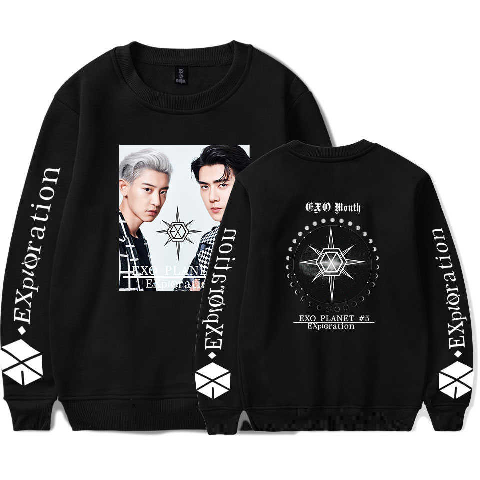 EXO PLANET#5 sweatshirts Women 2019 New Printed Sweatshirt Hooded Pullover Plus Size EXO PLANET#5 Hoodie Sweatshirts