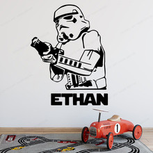 Star Wars wall decal boys room custom name wall sticker vinyl kids room wall decor removable art poster JH233 eco friendly custom name airplane clouds decal nursery decor boys kids room decor vinyl wall sticker airplanes with clouds y 80