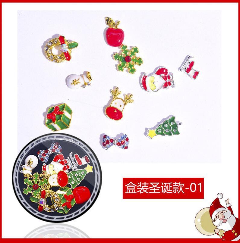 Купить 1jar дизайн ногтей рождественский сплав заклепки из горного