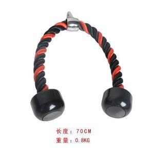 Тренировочная веревка с ручкой, натяжные веревки для силовых тренировок, черное фитнес-оборудование, рычаг для тренировок в тренажерном за...