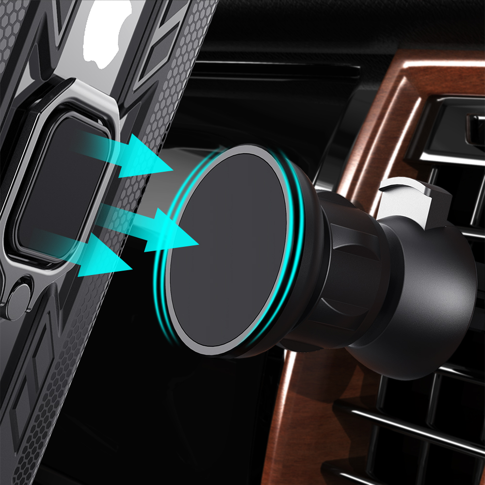 KEYSION Magnetic Car Phone Holder Air Vent Outlet Rotatable Mount Magnet Phone Mobile Stand Universal For iphone Samsung Xiaomi 3