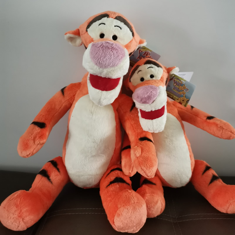 Free Shipping Original Cartoons Tigger Plush Toy Tiger Stuffed Animal Soft Doll For Birthday Gift Good Quality