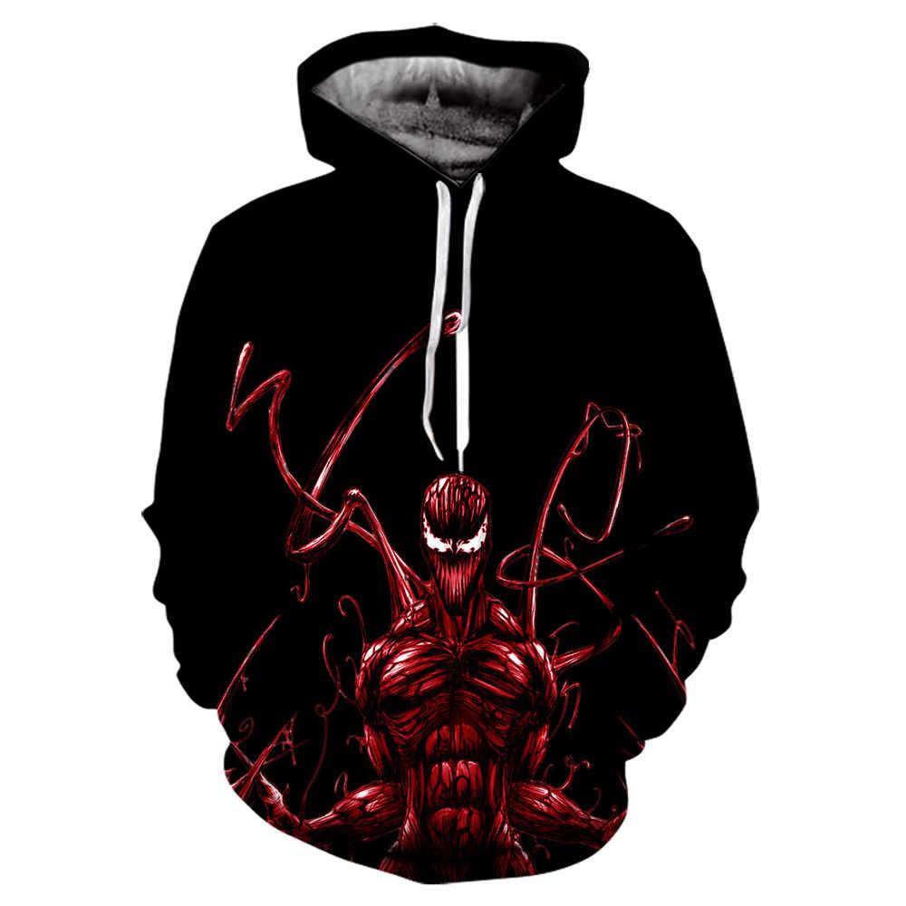 Superhero Venom Hoodies Männer Frauen Sweatshirts Coole Gedruckt 3d Hoodie Hip Hop Pullover Mit Kapuze Streetwear Tops