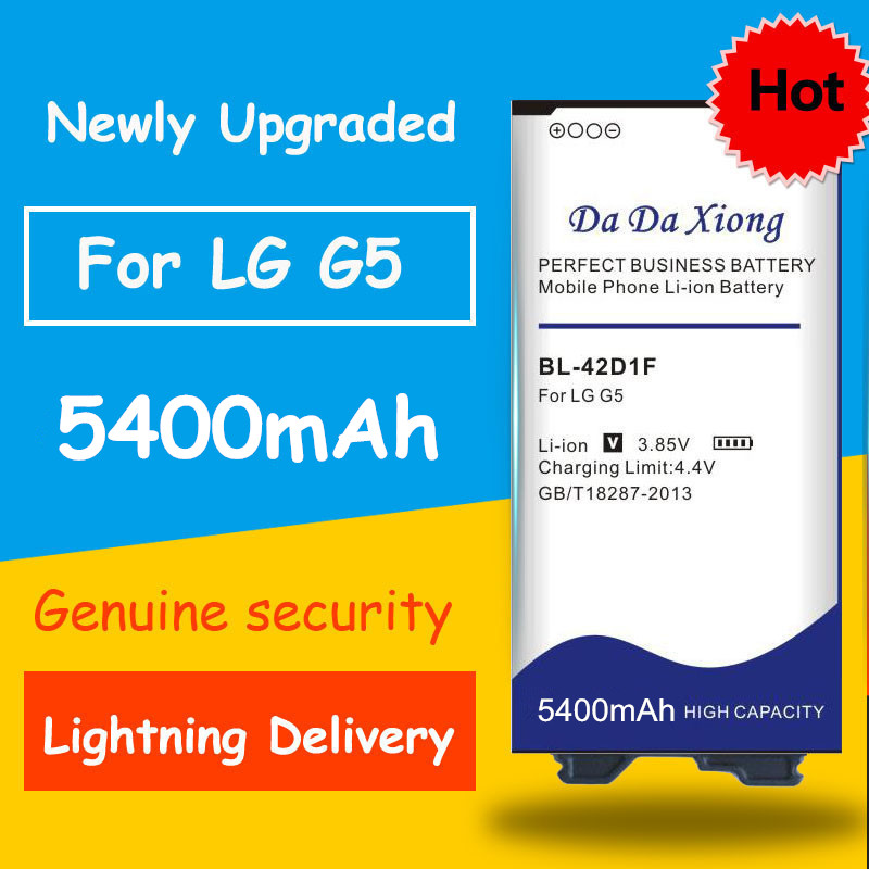 Free Shipping 5400mAh BL-42D1F Battery For LG G5 H850 H820 H830 H831 H840 H868 H860N H860 LS992 US992 F700L F700S F700k VS987