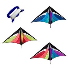 Triangle Spider Kite with Line Board Outdoor Fun Game Sports Flying Toys Gifts