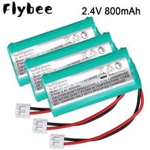 2/4/6/8/10 шт. 2 * AAA 2,4 В 800 мА/ч ni-mh аккумуляторная батарея для телефона для фотоприемника стандарта BT1011 BT1018 BT8001