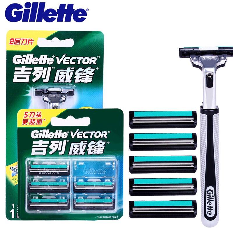 Original Gillette Vector Razor Blades For Men Shaver Safety Pen Razor Shaving Blade Replacement Heads Sharpening Machine Knife